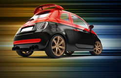 Back of a generic red and black city car Stock Photography