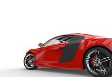 Back of a generic red sport car Royalty Free Stock Images