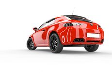 Back of a generic red sport car Stock Image