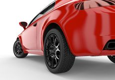Back of a generic red sport car Stock Images