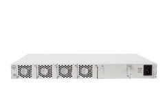Back of Gigabit Ethernet switch with SFP slot Stock Image