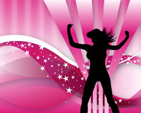 Back girlie pink Royalty Free Stock Photos