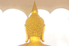Back gold Buddha head. Royalty Free Stock Images
