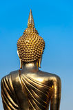Back of golden buddha statue. Nan Thailand Stock Photography
