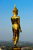 Back of golden buddha statue. In Nan,Thailand Royalty Free Stock Image