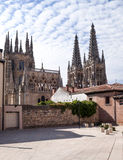 Back of Gothic cathedral of Burgos Royalty Free Stock Images