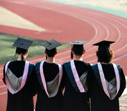 Back of graduate Royalty Free Stock Images