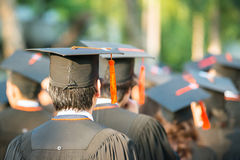 Back of graduates during commencement Stock Images