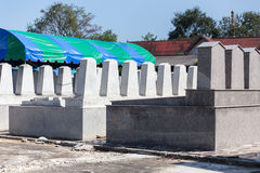 Back of the Graves in The Annual Blessing of Graves at Ratchaburi Province, Thailand Royalty Free Stock Photo