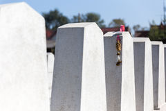 Back of the Graves with Rotten Garland in The Annual Blessing of Graves at Ratchaburi Province, Thailand Stock Photos