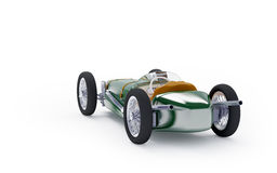 Back of green vintage racing car Stock Photography