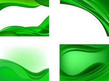 Back.green.wave Stock Image