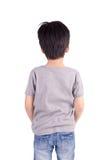 Back grey T-shirt on a boy Royalty Free Stock Image