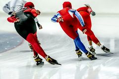 back group speed skaters athlete Royalty Free Stock Image