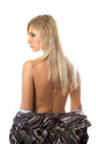 Back and hair of a young blonde Royalty Free Stock Image