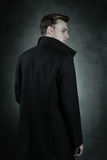Back of handsome vampire Stock Photography