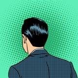 Back head businessman Stock Image