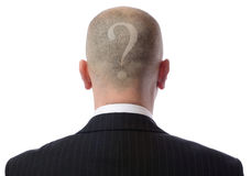 Back of head question Royalty Free Stock Photo