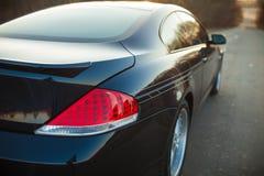 Back headlight of car. On road Royalty Free Stock Photos