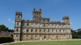Back of Highclere Castle, Downton Abbey. Back of Highclere castle, filming location of Downton Abbey stock photo