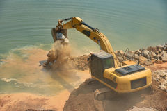 Back hoe Construction vehicles Royalty Free Stock Image