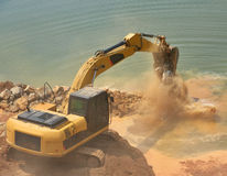 Back hoe Construction vehicles Royalty Free Stock Photo