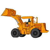 Back Hoe Vector. Action backhoe vector isolate on white background Stock Photo