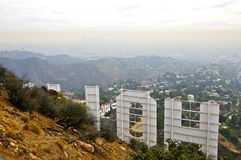 Back of the Hollywood Sign Royalty Free Stock Image