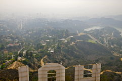 Back of the Hollywood Sign. View from the back of the Hollywood Sign, Los Angeles CA royalty free stock images