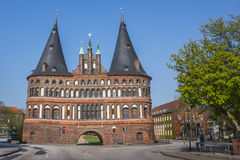 Back of the Holstein gate in Lubeck Royalty Free Stock Photos