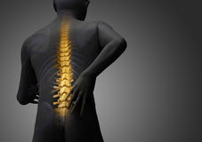 Back hurt Stock Photo