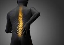 Back hurt Stock Photo
