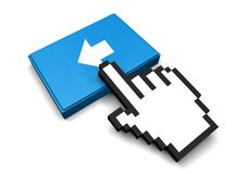 Back Icon. 3D Illustration Back Vector Icon Royalty Free Stock Images