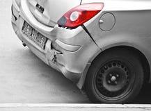 Back impact. Broken back of car, duo-tone Stock Photo