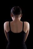 Back of indian female black dress Royalty Free Stock Images
