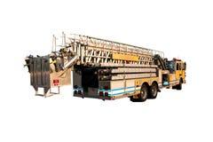 back isolated ladder truck Στοκ εικόνα με δικαίωμα ελεύθερης χρήσης