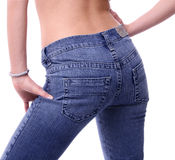 Back jeans. Model from back in jeans Royalty Free Stock Photography