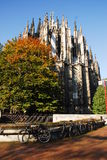 Back of Koln DOM. The famous cathedral of Cologne (Koln Dom Stock Image