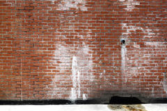 Back lane brick-wall. An image of a brick wall on the back lane of a building royalty free stock images