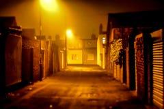 Back Lane. Hilda street fulwell Sunderland foggy back lane Royalty Free Stock Photography