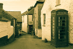 Back lane in Port Isaac, Cornwall. Royalty Free Stock Images