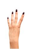Back left hand four fingers Royalty Free Stock Photos