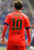 Back of Leo Messi of FC Barcelona Royalty Free Stock Photography