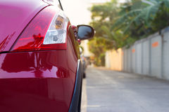 Back light of city car on street background Stock Photography