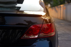 Back light of city car on the street background Royalty Free Stock Photography