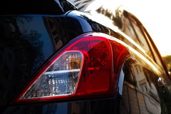 Back light of city car on the street background Royalty Free Stock Image