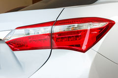 Back light of grey car. Royalty Free Stock Photography