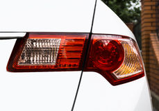 Back light taillight of white modern car Royalty Free Stock Photos