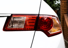 Back light taillight of white modern car Royalty Free Stock Photo