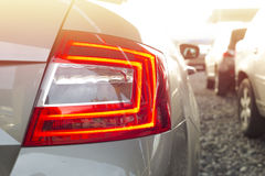 Back lights of a car Stock Photography